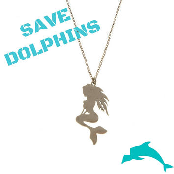 Save the Dolphins Mermaid Necklace