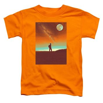 The Milky Way, The Blood Moon And The Explorer Poster By Adam Asar 4 - Toddler T-Shirt