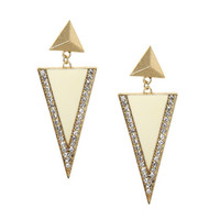 Rhinestone Triangle Epoxy Earring | Shop Jewelry at Wet Seal