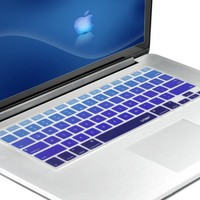 "Litop® Blue Gradient Series Silicone Keyboard Cover Keyboard Skin for All MacBook Air 13"", MacBook Pro with Retina Display 13""15"" 17"" Macbook 13"" Unibody"