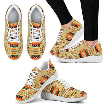Seven Tribes Tan Sopo Women's Athletic Sneakers White Sole Tennis Shoes