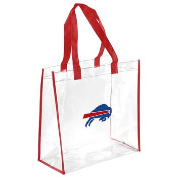 Buffalo Bills Clear Reusable Plastic Tote Bag NFL 2017 Stadium Approved