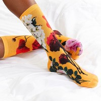 Out From Under Exploded Floral Crew Sock | Urban Outfitters