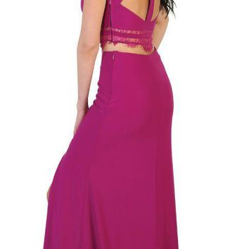 Long Prom Two Piece Set Prom Dress Formal Evening Gown