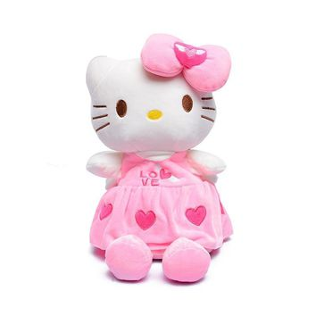 Lovely soft plush stereo hello kitty kids schoolbag Mickey Minnie school backpacks for girls boys for 1-4years children