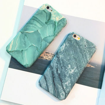 Old Marble iPhone 7 7Plus & iPhone se 5s 6 6 Plus Cover Case