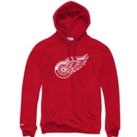 Mitchell & Ness Team History Hoody Detroit Red Wings In Dark Red