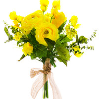 Ranunculus/Tulip/Sweet Pea Silk Bouquet in Yellow