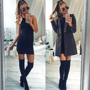 Women Bandage Bodycon Sleeveless Evening Party Cocktail Mini Slim Dress Gift