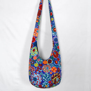 Hobo Bag, Crossbody Bag, Hippie Purse, Sling Bag, Hobo Purse, Boho Bag, Bohemian Purse, Fabric Purse, Handmade, Handmade Purse, Handmade Bag