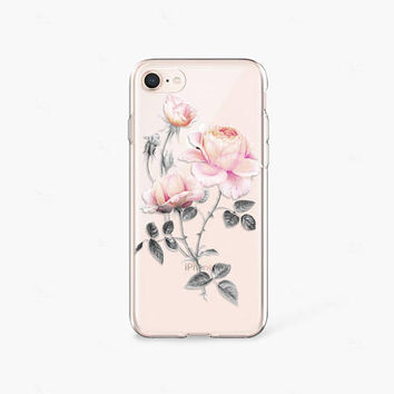 Mother's Day Gifts iPhone 7 Case Clear iPhone 8 Case Floral iPhone 7 Plus Clear Samsung Galaxy S8 Case iPhone X Case Clear Gifts for Blogger