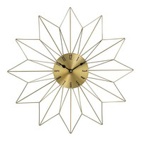 "Metal Gold Wall Clock 20""W, 20""H"