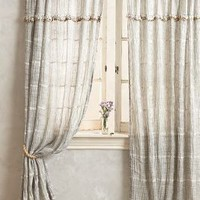 Graduated Tassel Curtain by Anthropologie in Neutral Size: