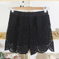 Lace Crochet Summer Shorts
