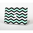The Teal & Black Wide Chevron Pattern Skin Set for the Apple MacBook Air 11""