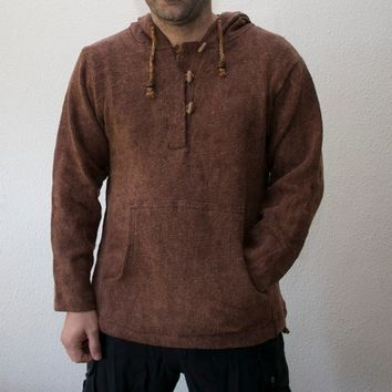 Mens Hoodie Burning ManPsy Clothing Goa StyleHippieCool Hooded