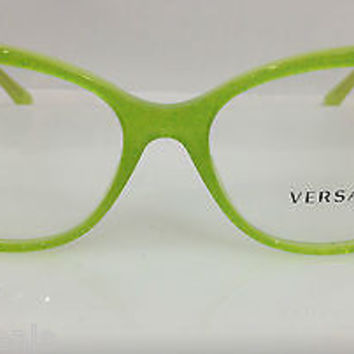 VERSACE MOD 3193 COL 5096 LIME GREEN PLASTIC EYEGLASSES FRAME NEW AUTHENTIC