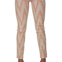 AG Adriano Goldschmied Stilt Skinny Jeans in Ikat Orange for sale online from Carolina Boutique in Mill Valley