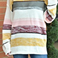Warm Embrace Stripe Sweater - Off White