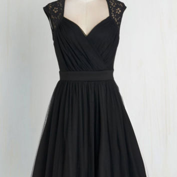 LBD Mid-length Cap Sleeves Fit & Flare All Manners of Merriment Dress