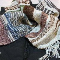Hand woven Linen Sampler Scarf beautiful, to keep you warm