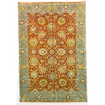 Oriental Lavar Wool and Cotton Oriental Rug, Red/Green