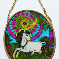 FREE SHIPPING--Magical, cosmic, colorful and majestic unicorn