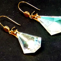 Clear Swarovki Crystal Teardrop Earrings - LinorStore Jewelry & Kippah
