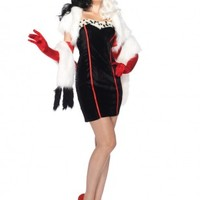 4 PC Cruella Costume @ Amiclubwear costume Online Store,sexy costume,women's costume,christmas costumes,adult christmas costumes,santa claus costumes,fancy dress costumes,halloween costumes,halloween costume ideas,pirate costume,dance costume,costumes fo