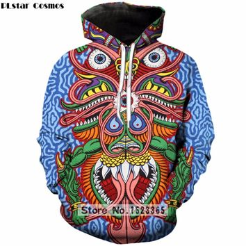Trippy Sacred Geometric Animal Hoodie - The DayTripper Collection