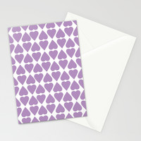 Diamond Hearts Repeat O Stationery Cards by Project M