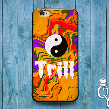 iPhone 4 4s 5 5s 5c 6 6s plus + iPod Touch 4th 5th 6th Generation Cute Yellow Trill Ying Yang Boy Girl Trend Cool Teen Phone Cover Cool Case
