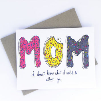 Mother's Day Card - Mom Donuts