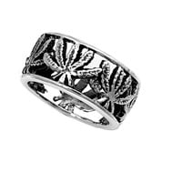 925 Sterling Silver Legalize It Marijuana Ring