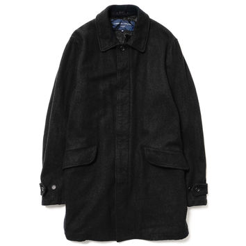 Garment Dyed Wool Melton Long Coat