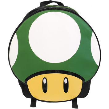 Nintendo - Green Mushroom Die Cut Backpack