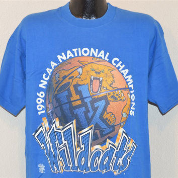 1996 Kentucky Wildcats NCAA Basketball National Champs t-shirt Extra-Large