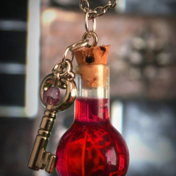 Diablo Inspired Full Health Potion Necklace with by ProjectPinup