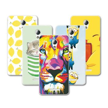 """Fruit Painting Cat Minions For Lenovo A2016A40 A Plus A1010 A20 A1010a20 Lenovo A1010 Case Cover funda Lenovo A2016a40 4.5""""+Gift"""