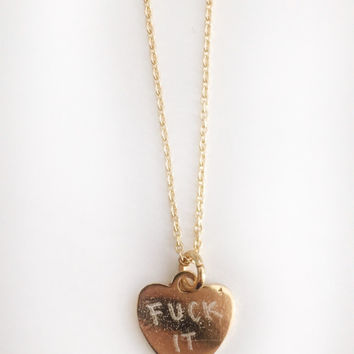 Fuck It Necklace