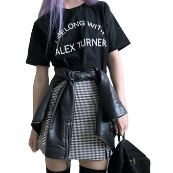 Summer ALEX TURNER Print T-Shirt for Women Gift 109