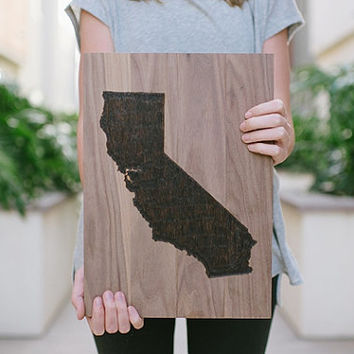 Wood Burned State Sign >>> Choose Your State