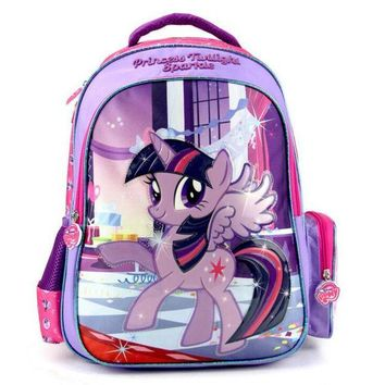 DCCKU62 New Kids Lovely Cartoon Schoolbag My Little Pony Girls Backpack for Kindergarten Primary School Kids Back to School Gift Bags