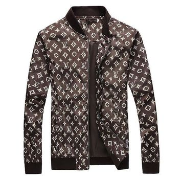 Louis Vuitton Coffee Monogram Cardigan Jacket Coat