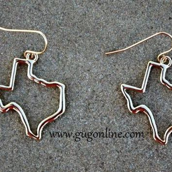 Gold Texas Earrings