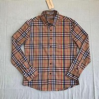 Burberry Women High Quality Men's Casual Stripes Plaid Long Sleeved Shirt