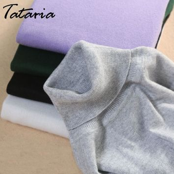 Turtleneck Cashmere Sweater Women Basic Korean Women's Sweater Slim Winter Cashmere Sweaters For Women Sweaters And Pullovers