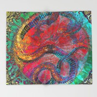 Chinese Dragon Throw Blanket by Jbjart | Society6