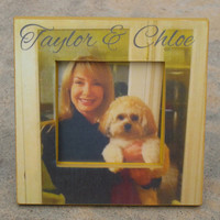 Personalized Pet Picture Frame, Custom Dog, Cat, Pet Picture Frame, Unique Gift, Pet Memorial Photo Frame
