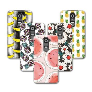 Fruit Art Painting Banana Minions Phone Case For LG G2 Mini Case Cover For LG G2 MINI D618 D620 Cover Back+Stylus Pen